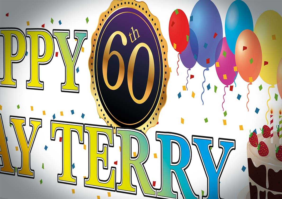 Terry's 60th Birthday Banner